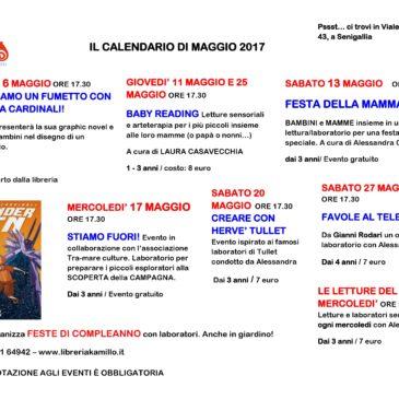 Gli eventi di Kamillo: il calendario di maggio