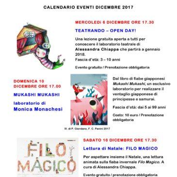 Il calendario degli eventi di dicembre
