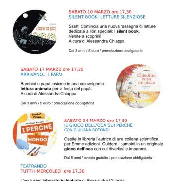 Il calendario degli eventi di Marzo