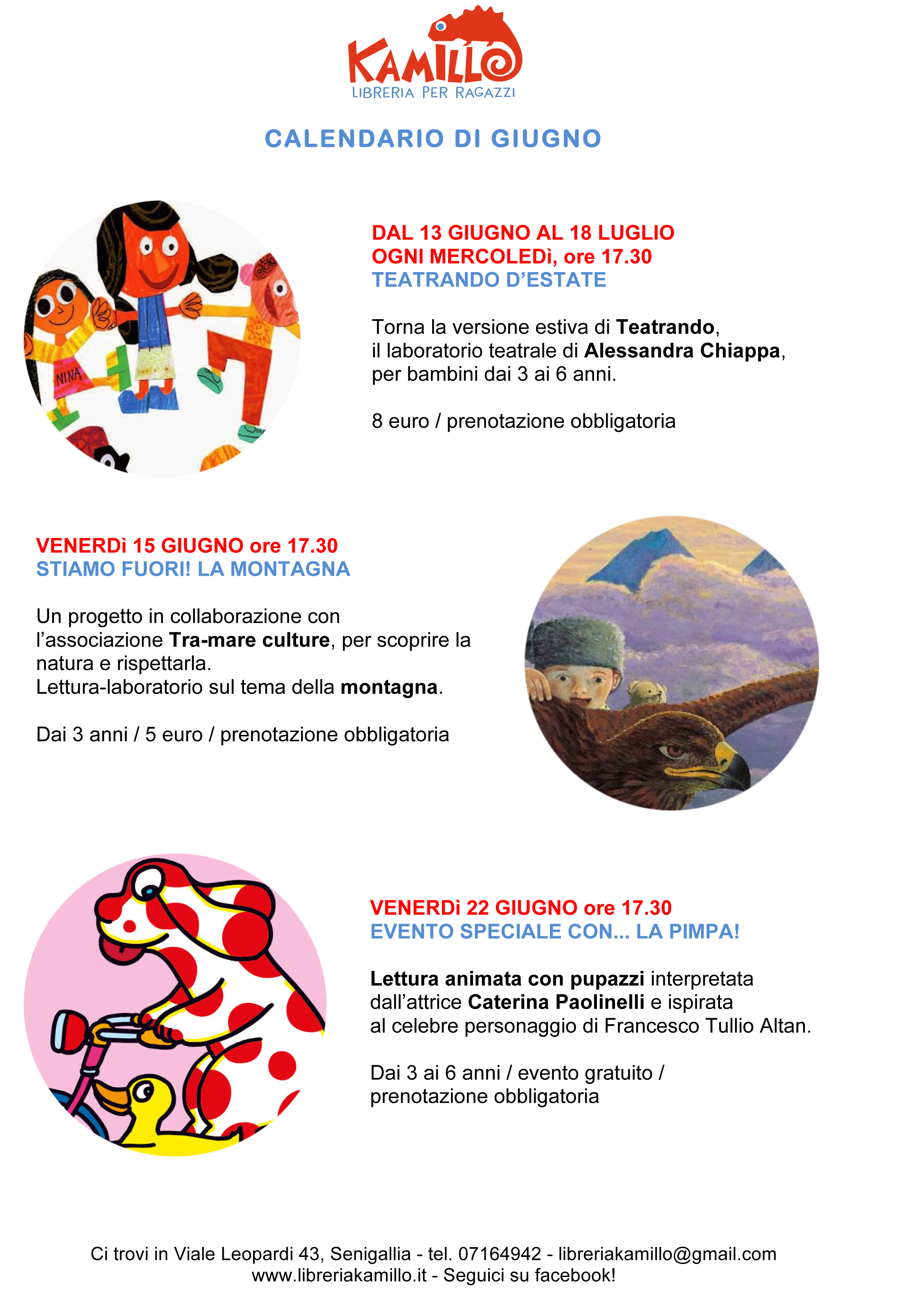 Calendario Di Giugno.Calendario Degli Eventi Di Giugno Libreria Kamillo