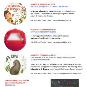 Calendario degli eventi di febbraio 2019