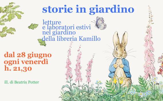 Da venerdì 28 giugno: Storie in giardino!